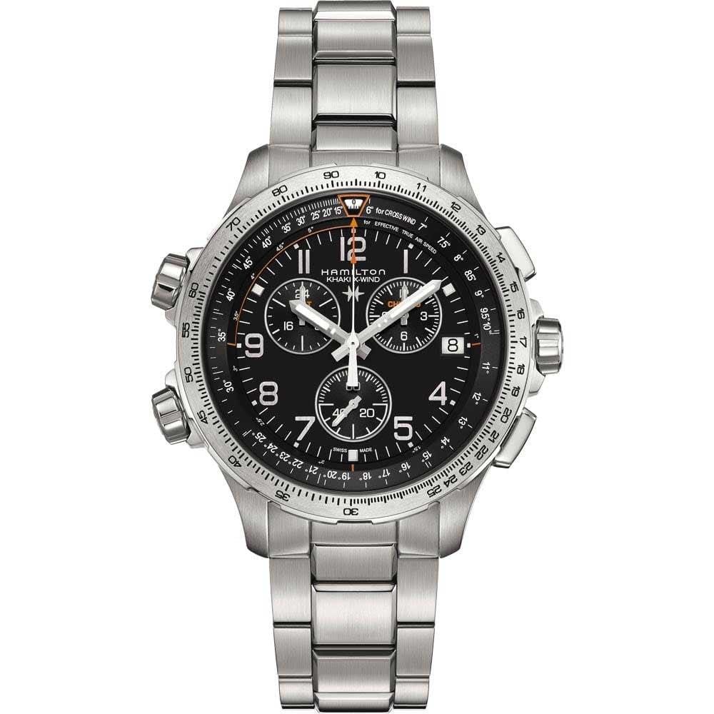 Hamilton Men s Khaki Aviation X-Wind Chrono Quartz GMT Watch Product Code   H77912135 f8a76670e36