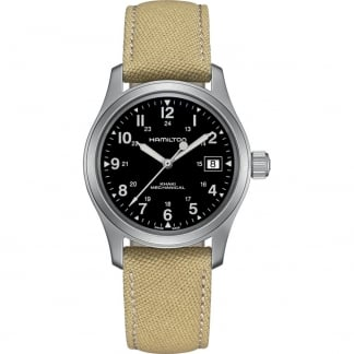 Men's Khaki Field Officer Handwinding Mechanical Watch