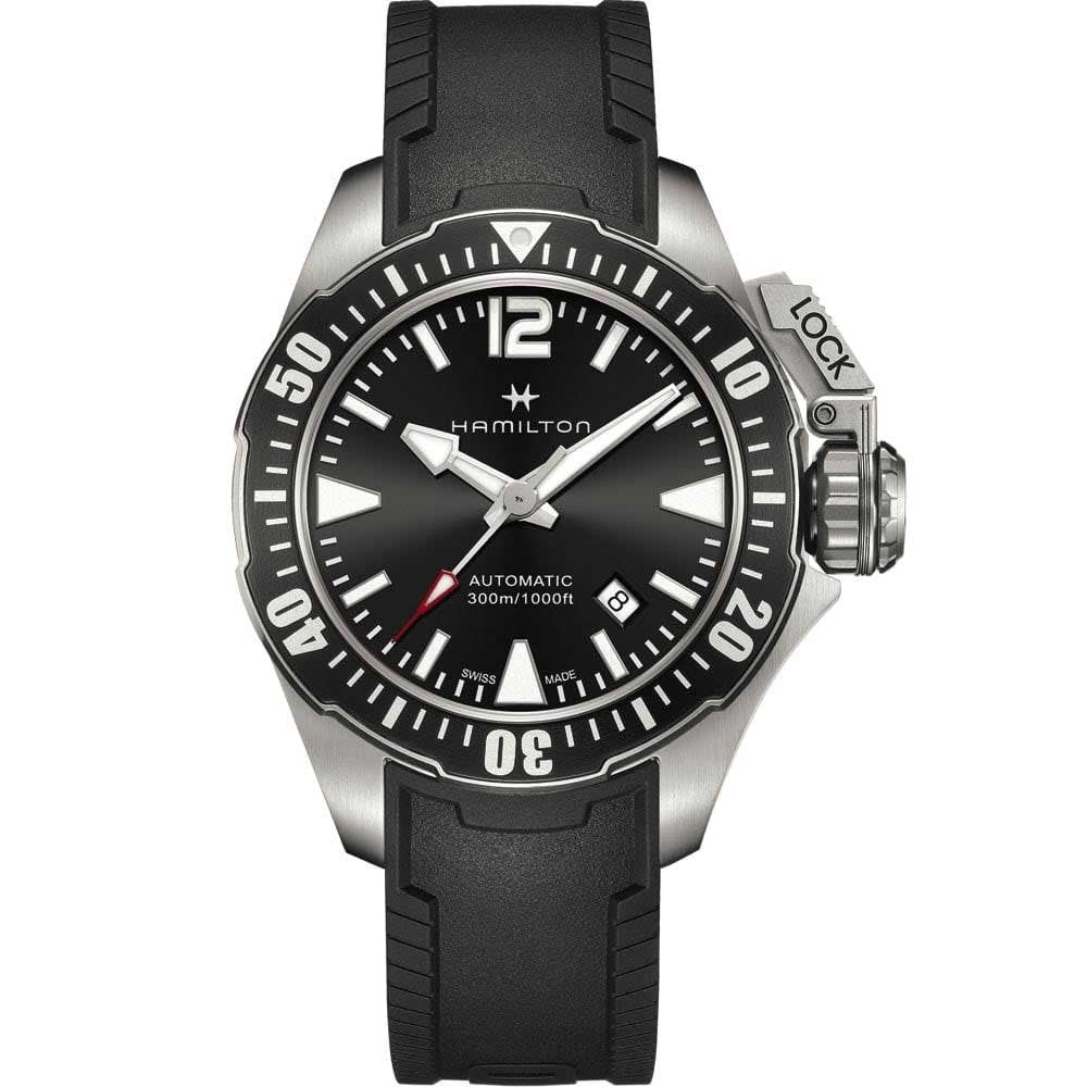 Men S Khaki Navy Frogman Automatic Diver S Watch