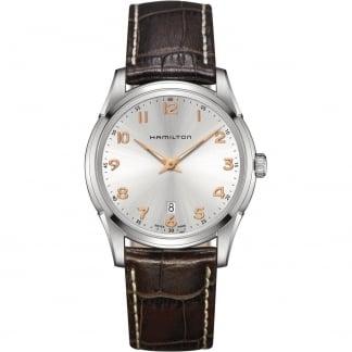 Men's Jazzmaster Thinline Quartz Brown Leather Watch H38511513