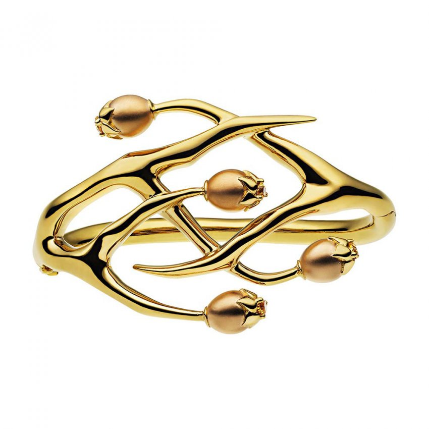 Jewelry in silver - Gold vermeil citrine ring