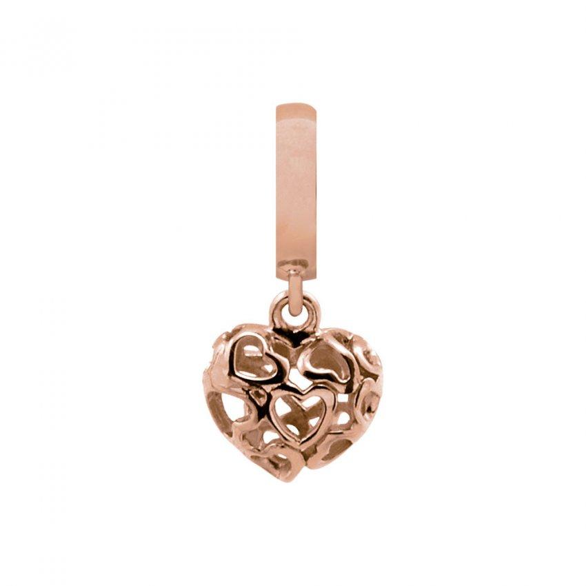Endless Heart Beart Love Rose Gold Charm E37302
