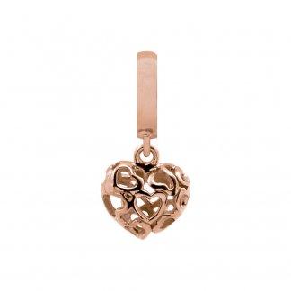 Heart Beart Love Rose Gold Charm E37302