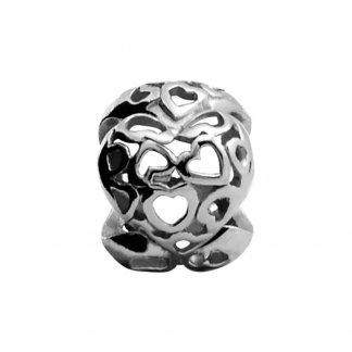 Heart beat Silver Charm E21307