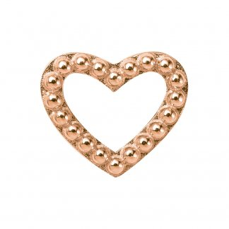 Hearts Dots Rose Gold Charm