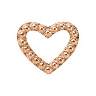 Hearts Dots Rose Gold Charm E27400