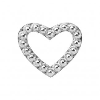 Hearts Dots Silver Charm