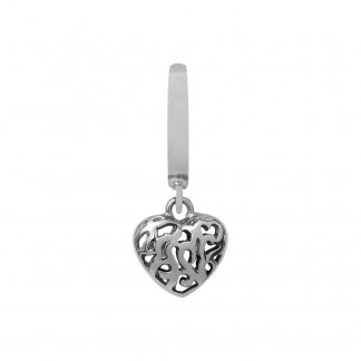 Hearts in Hearts Silver Charm E31102