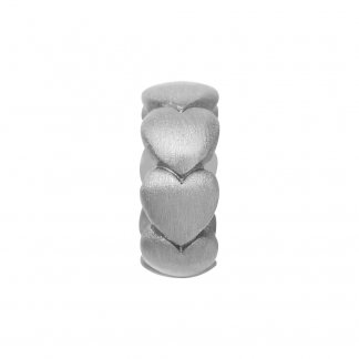 Hearts Silver Charm