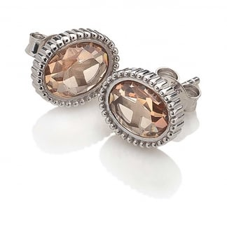 Champagne Stone Loyalty Earrings