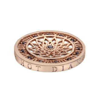 Emozioni 25mm Time Traveller Coin in Rose Gold EC148