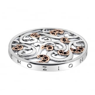 Emozioni 33mm Edera Coin in Silver and Rose Gold EC205