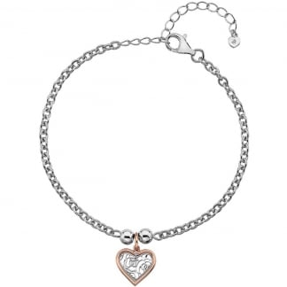 Faith Heart Adjustable Bracelet