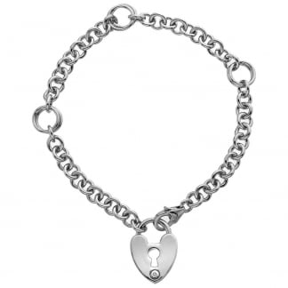 Ladies Padlock Love Lock Bracelet