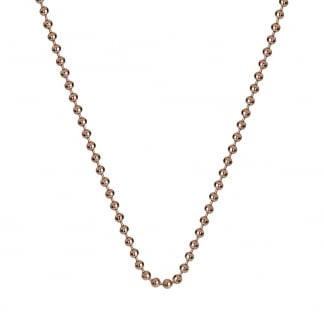Ladies Rose Gold 61cm Beaded Chain