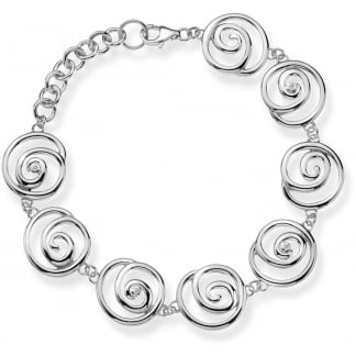 Ladies Silver Eternity Multi Spiral Bracelet