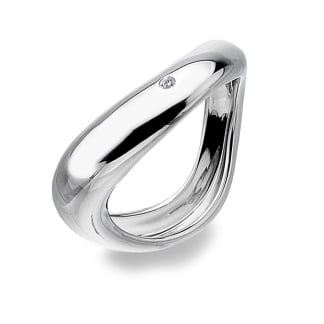 Ladies Silver Go With The Flow Ring
