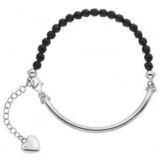 Ladies Trend Black Onyx Adjustable Bracelet
