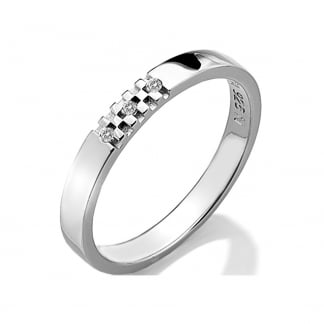 Ladies Triple Diamond Affine Sparkle Ring