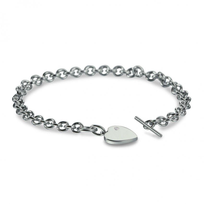 Hot Diamonds Lovelocked Silver Bracelet DL003