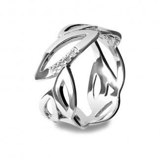 Multi Leaf Silver Ring