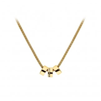 Rose Gold Plated 3-Ring Trio Necklace DP553