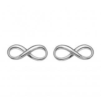Silver Infinity Studs DE390