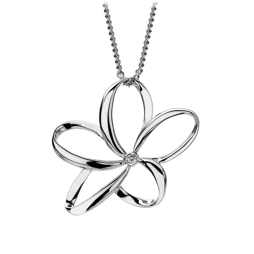 Hot diamonds dp231 flower pendant francis gaye jewellers silver paradise large open flower pendant aloadofball Image collections