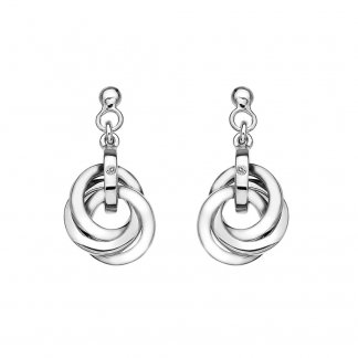 Silver Trio Drop Earrings