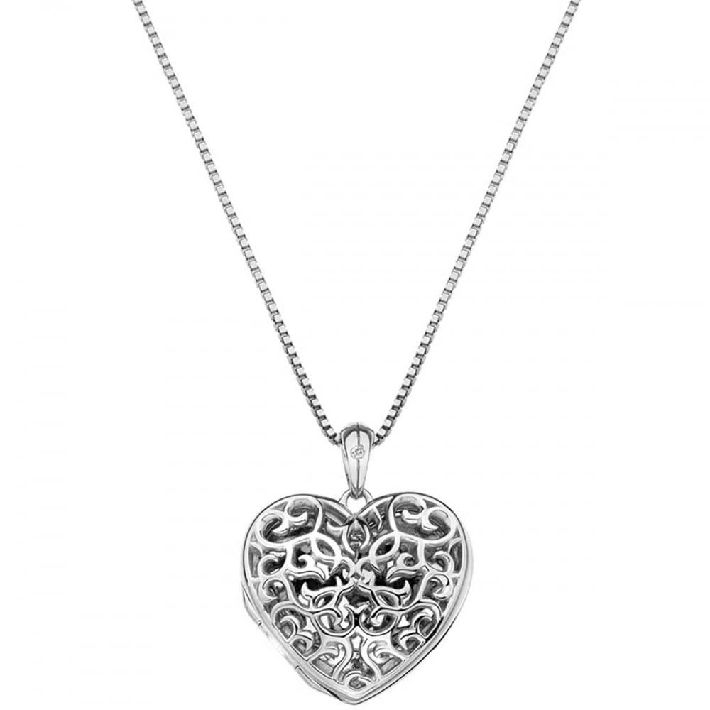 UK Jewellery 20 x  Filigree Silver Pendant Heart Photo Necklace Locket
