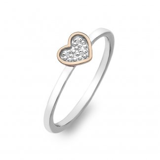 Stargazer Bi-Colour Heart Ring - Size N DR138