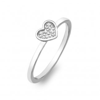Stargazer Silver Heart Ring - Size P DR137
