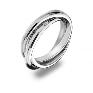 Sterling Silver Trio Ring