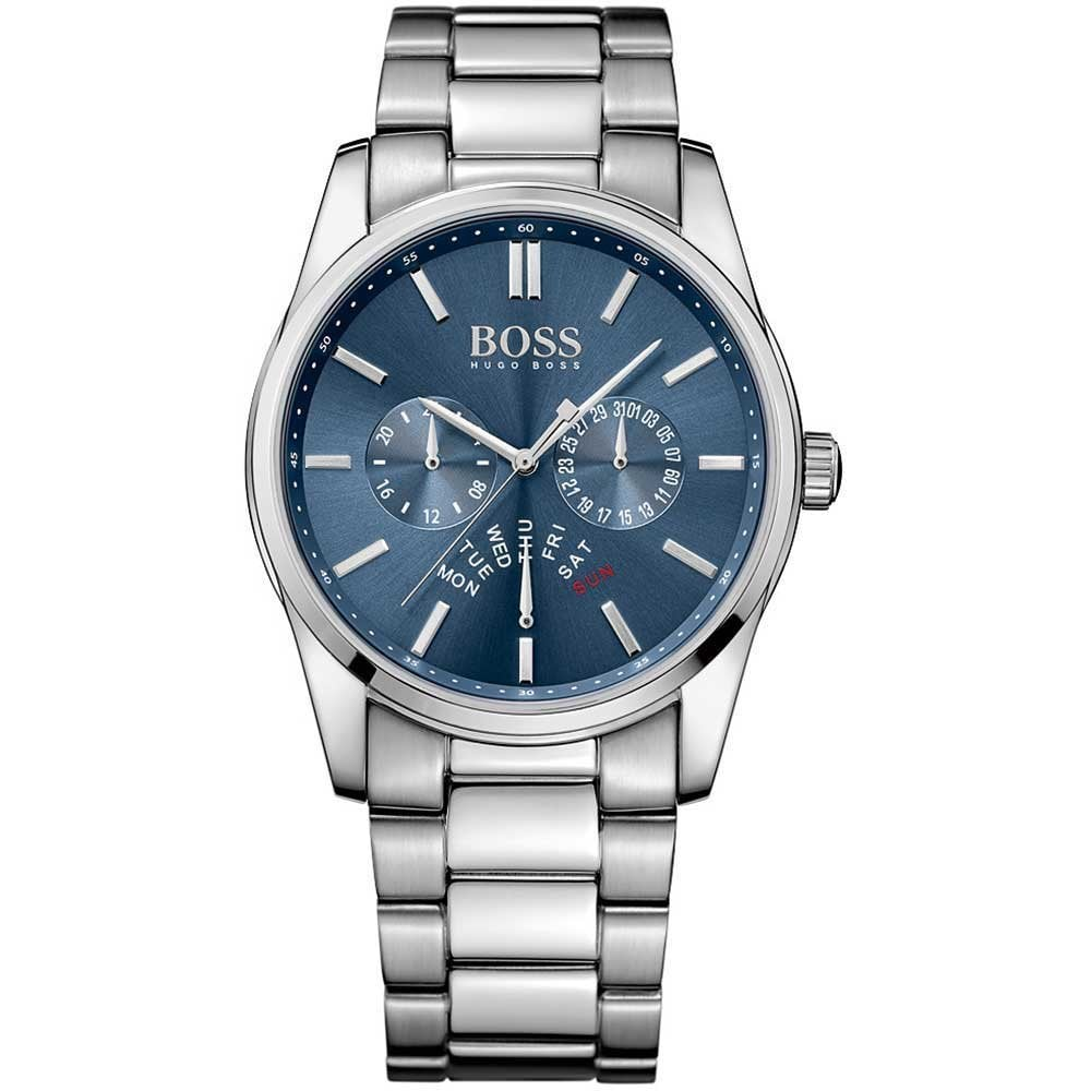 Hugo Boss Gent s Blue Day Date Dial Heritage Watch Product Code  1513126 fab94ca39d9a