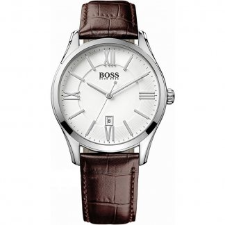 Gent's Classic Brown Leather Strap Watch