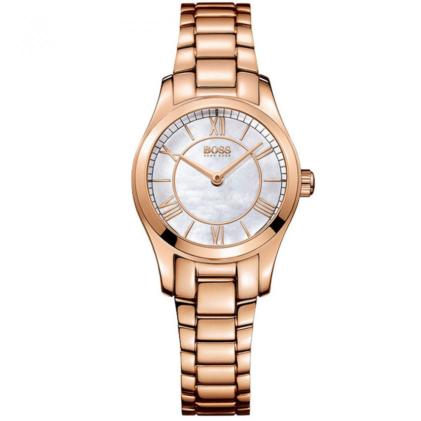 Hugo Boss Ladies Ambassador Rose Gold Quartz Watch 1502378