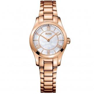 Ladies Ambassador Rose Gold Quartz Watch 1502378