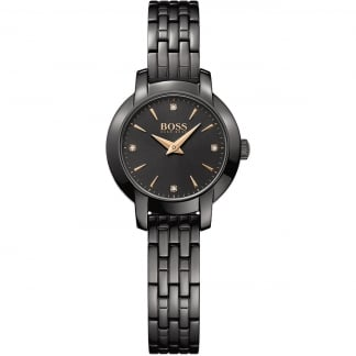 Ladies Black Ion Plated Success Watch 1502387