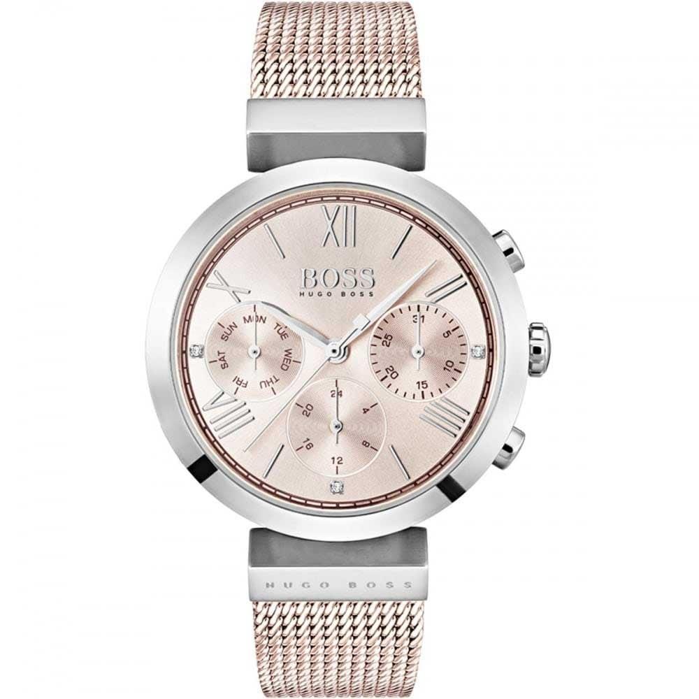 f60df93767b6e BOSS Ladies Classic Sport Rose Gold / Silver Watch