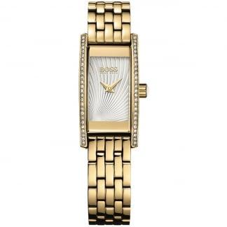Ladies Cocktail Stone Set Gold Bracelet Watch 1502384