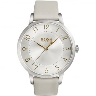 Ladies Eclipse Light Grey Strap Watch
