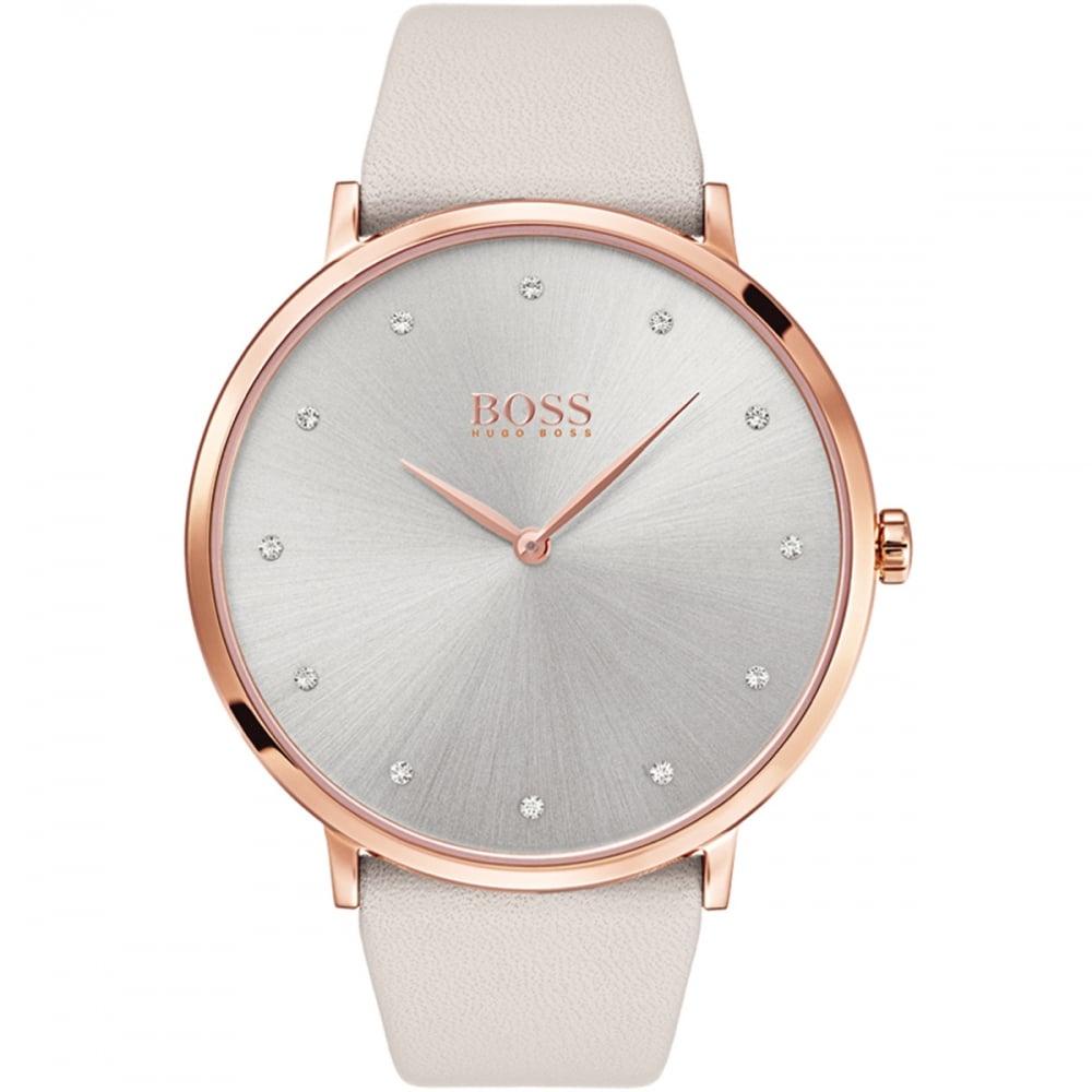 Hugo Boss Ladies Jillian Light Grey and Rose PVD Watch Product Code  1502412 5c2b73497e12