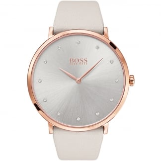Ladies Jillian Light Grey and Rose PVD Watch