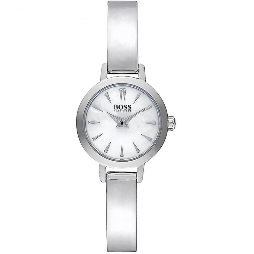 Hugo Boss Ladies Mother of Pearl Dial Bangle Watch 1502366
