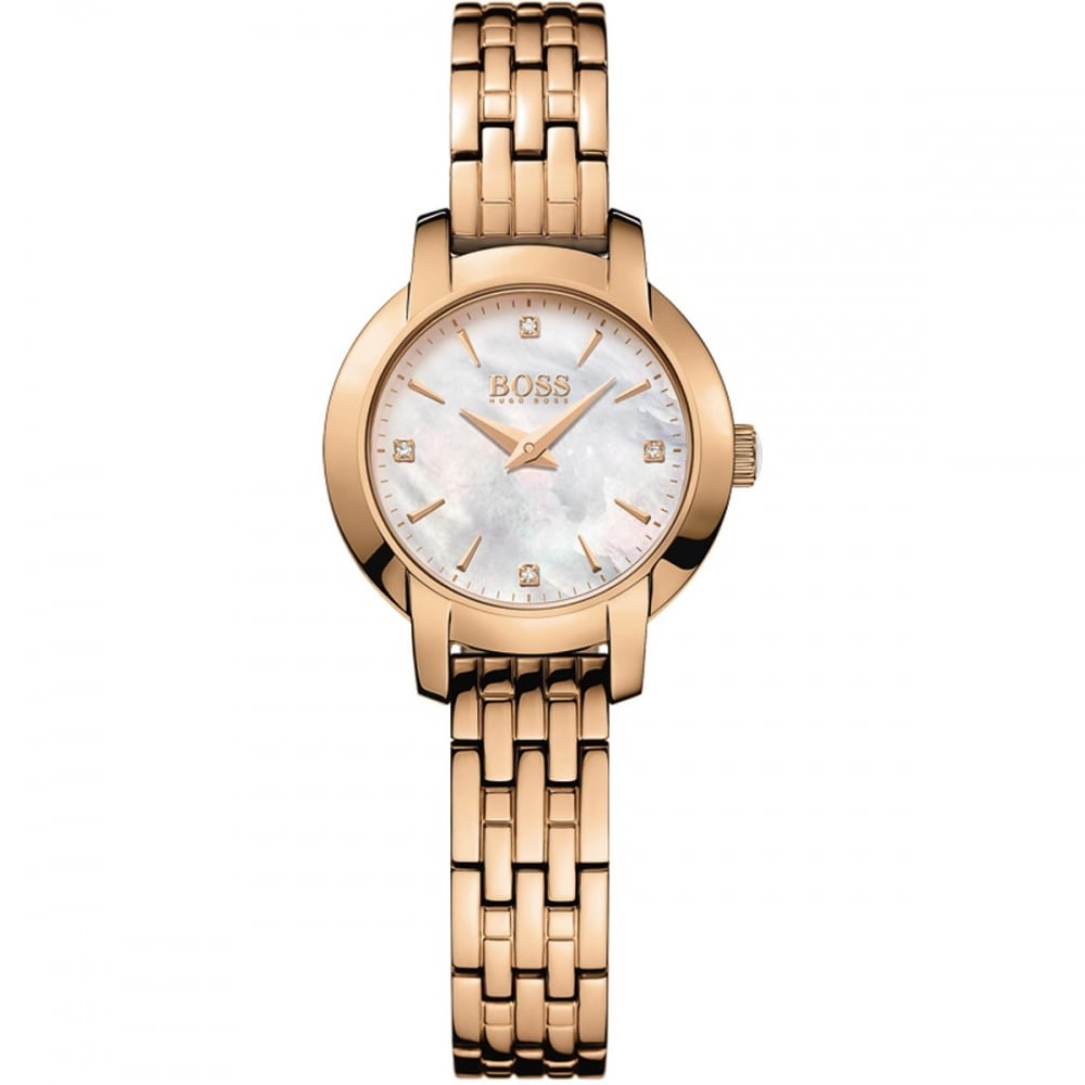 9d08d7f6 Hugo Boss Ladies Rose Gold Success Mother of Pearl Dial Watch Product Code:  1502379