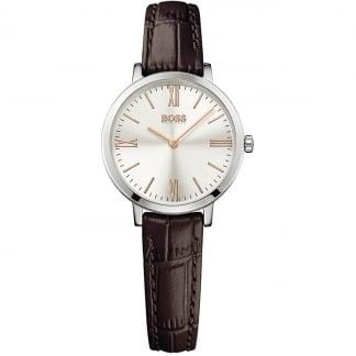 Ladies Jillian Brown Leather Strap Watch 1502393