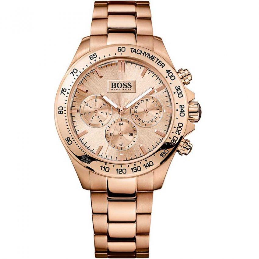 Hugo Boss Ladies Striking Rose Gold Multifunction Watch 1502371