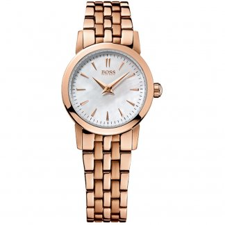 Ladies Stunning Rose Gold Mother of Pearl Dial Watch 1502362