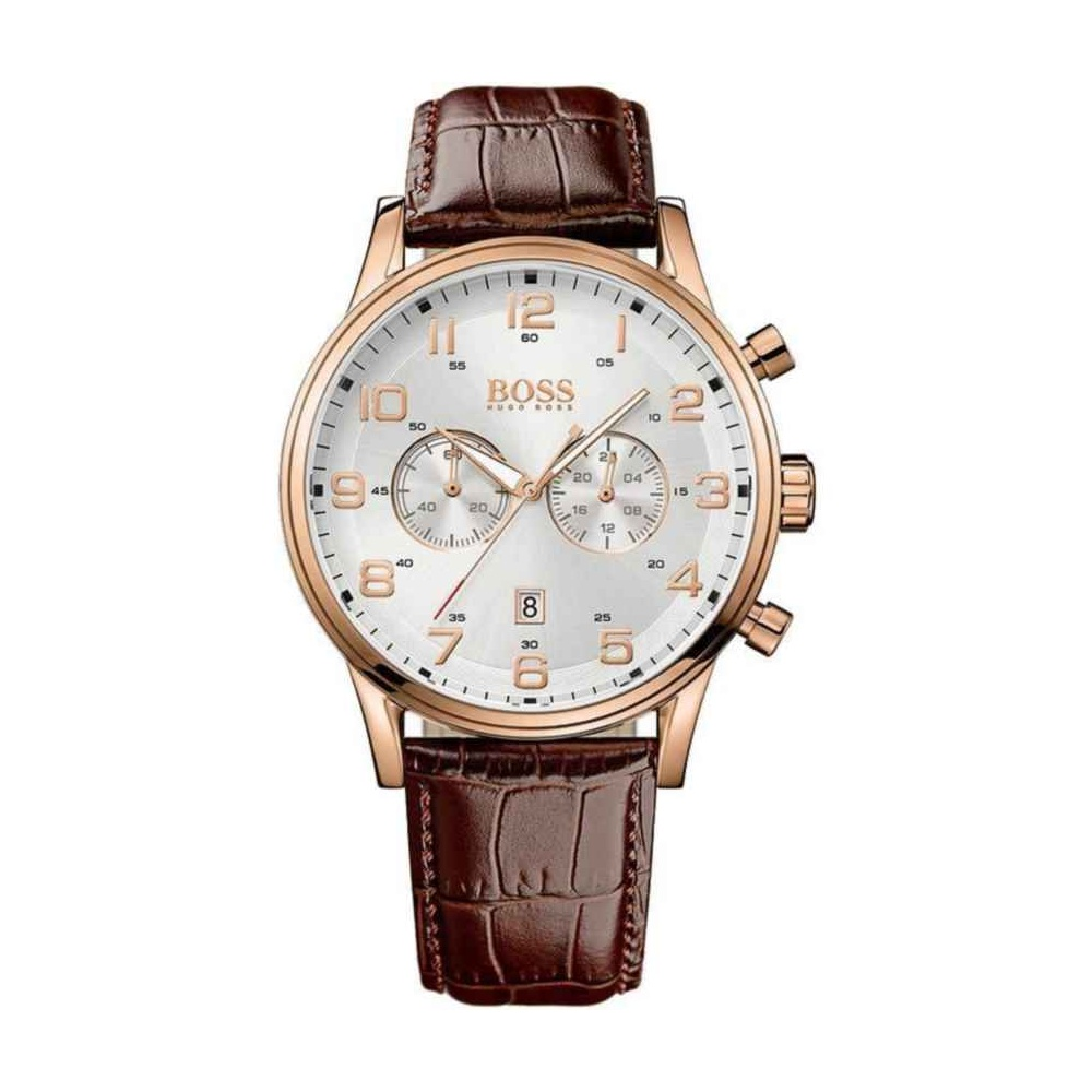 Hugo Boss Men s Aeroliner Rose Gold Chronograph Watch Product Code  1512921 e4ab619699b5