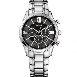 Men's Ambassador Black Dial Chronograph Watch 1513196